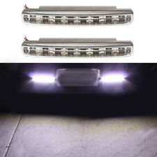 2x Car Daytime Running Light 8 LED DRL Daylight Kit Super White Head Lamp