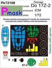 DORNIER DO-17 Z-2 CANOPY PAINTING MASK TO ICM KIT #72108 1/72 PMASK