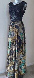 Party 21 Exclusive Jewelled Maxi Dress 90% Silk UK Size  8 /10 Small NEW TAGS