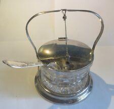 Sucrier Balancier en Inox et verre avec cuillère en argenterie – « Mepra Inox 18