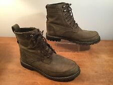 Timberland Boots 9.5 Mens Suede Leather Olive/Army Green Urban Lumberjack Hiking