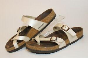 Birkenstock Womens Size 7 38 Mayari Strappy Slide Sandal Flat Germany Made Shoes