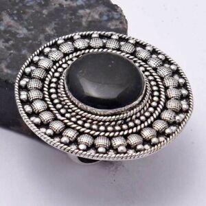 Black Onyx Ethnic Handmade Ring Jewelry US Size-11 AR 40291