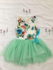 NEW Girls Dresses Girls Flower Light Green Tulle Dress Size 3 years