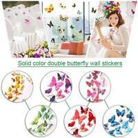 12er Set 3D Schmetterlinge Wandtattoo Wandaufkleber Kühlschrank- Wandsticker s