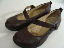 Yuu Shoes Sz 9.5 Loafer Brown Leather Ribbon Raven Slip Ons Womens Comfort