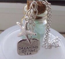 Dreaming Of The Sea Seaglass Bottle Vial Necklace