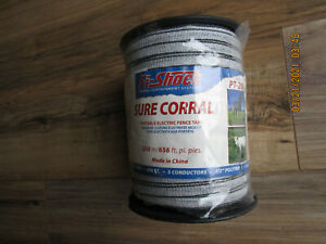 """FI-Shock Sure Corral Portable Electric Fence Tape 1/2"""" Polytape NEW"""