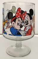 Disneyland Glass Goblet Mickey Mouse Minnie Pluto Goofy Donald Duck Candy Dish
