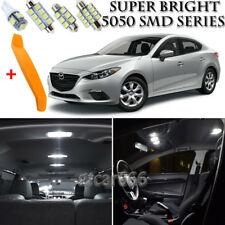 10 x Xenon White Interior LED Lights Kit + TOOL For 2014 - 2016 Mazda 3