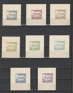 ++ 1961 Fauna 4,5 Nominal in Different Colour Thick Paper