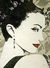 Melissa Pluch: Pop Diva Keilrahmen-Bild 50x70 Leinwand Musik Mode Frau