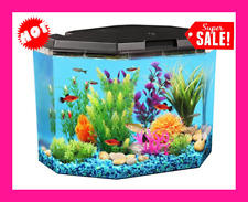 Lighting Aqua Culture Semi-Hex 6.5 Gal Aquarium Kit With Led And Filtration Tank