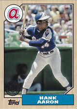2017 Topps Series 1 Hank Aaron 1987 Insert #87-56 Braves