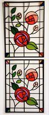 4 Bundle Transparent ROSE Window Stained Glass Film Sticker