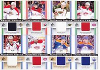13-14 SP Game Used Taylor Hall Jersey Fabrics Oilers 2013