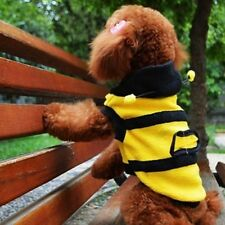 Lovely Dog Clothes Fleece Bumble Bee Cat Pet Harness Costume Apparel Hoodie