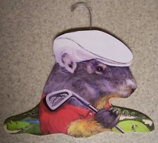 Clothes Hanger Sports Animal Golfing Gopher Stupell wood NEW