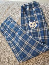 Boxercraft Blue Plaid Flannel Sleep Pants With Pockets ~ F20 ~ Size M ~ New