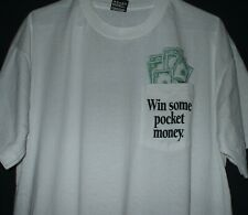 Vintage New Hampshire Lottery Win Some Pocket Money T Shirt XL Granite State