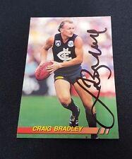 CARLTON BLUES - CRAIG BRADLEY SIGNED AFL 1994 SELECT COMMON CARD