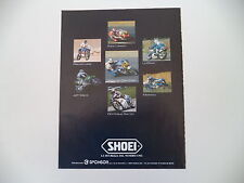 advertising Pubblicità 1987 SHOEI e JEFF WARD/EDDIE LAWSON/WAYNE GARDNER/LALAY