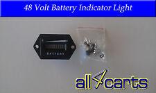 Golf Cart Battery Meter | 48 Volt Battery indicator light | Universal to 48v