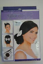 Glam It Up Dark Brown Up Do , Donut Bun Maker Hair Styling Kit - 3 Great Looks!