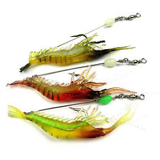 Soft Biomimetic Fishing Lure Hook Bionic Shrimp Noctilucent Bait Crankbait*