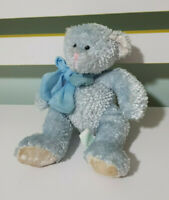 RUSS BERRIE TINKLE BLUE TEDDY BEAR PLUSH TOY! SOFT TOY ABOUT 18CM!