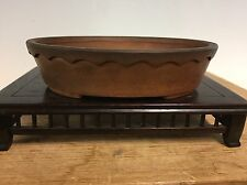 """Shohin Size Bonsai Tree Pot Made By Shiko. Super Unique 1/1 Design 4 7/8"""""""