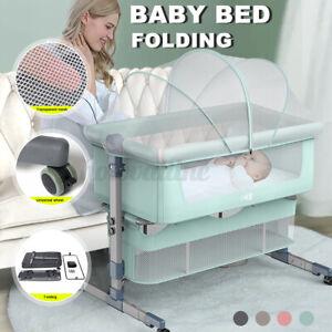 Adjustable Folding Travel Cot Portacot BABY BED SIDE SLEEPING w/ Carry Bag Set