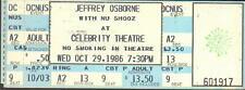 Jeffrey Osborne Unused Full Concert Ticket Not Stub 10/29/86 Celebrity Theatre