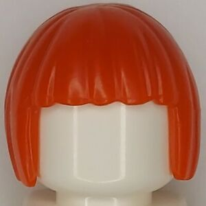 Lego Agents Minifigure Hairpiece Short Hair Red Bowl Cut Bob Cut