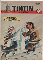 TINTIN n°122 - 22 Février 1951. Bel état