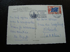 FRANCE (timbre service) - carte postale 8/4/1960 (strasbourg maison europe (cy6)