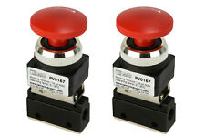2x Latching Push Button Pneumatic Control Valve 2 Port 2 Way 2 Position 1/8