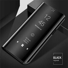 Black Adamarkeer Case For Samsung Galaxy Note 10 Case Electroplate Mirror Smart Clear View Flip Leather Case Protective PU Back Standing Shockproof Cover Kickstand Bookstyle