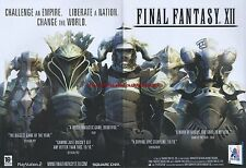 """Final Fantasy XII """"PS2"""" 2007 Magazine 2 Page Advert #5015"""