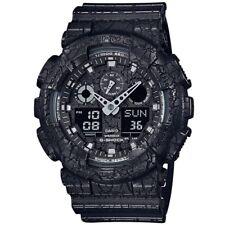Casio G-Shock GA-100CG-1A Black Cracked Pattern Men's Digital Anlalog Watch