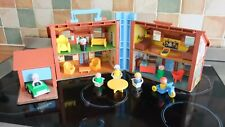 VINTAGE FISHER PRICE TUDOR HOUSE AND ACCESSORIES, IN VGC