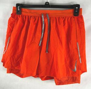 Men`s Nike Flex Stride 2-in-1 Running Short Orange Size XL AJ7782-891