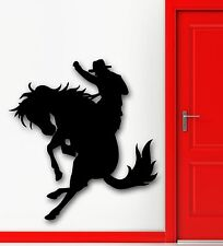 Wall Stickers Vinyl Decal Texas Cowboy Rodeo Horse Racing Silhouette (ig306)