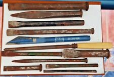 Collection Of 11 Cold Chisels Carving Chisels And Steel Hand Tools