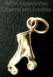 Roller Skate Charm Rollerskate Derby Pendant Gold Plated with Lifetime Guarantee