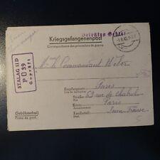 LETTRE PRISONNIER DE GUERRE STALAG II D 05.08.42 KRIEGSGEFANGENENPOST POW