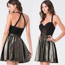 Bebe Lace & Velour Dress Size M