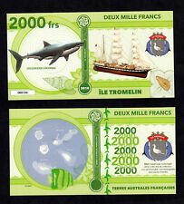 ★★ ILE TROMELIN ● TAAF ● BILLET POLYMER 2000 FRANCS ★★ COLONIE FRANCAISE