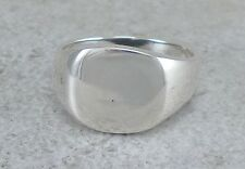 HIGH POLISHED 925 STERLING SILVER SIGNET RING size 7  style# r2430