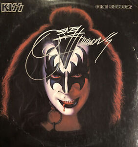 Kiss Solo LPs Originally Autographed By Simmons